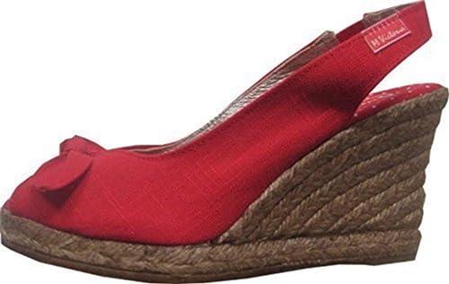 Alpargatas sandalia de Maria Victoria, color rojo, talla 35