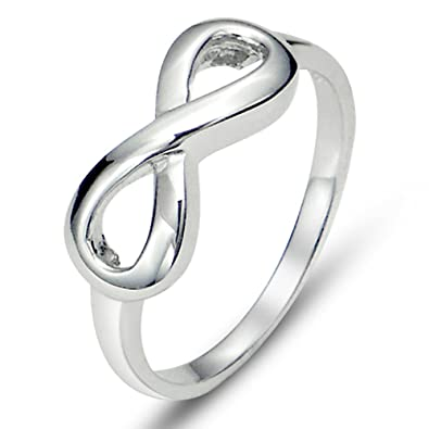 rings silver band symbol bands cz infinity sterling diamond engagement