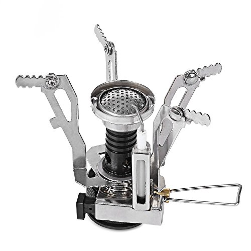 Ezyoutdoor Mini Outdoor cookware Camping Stove Hiking Picnic Gas Cooking Food Water Stove Windproof Excellent Heat Review