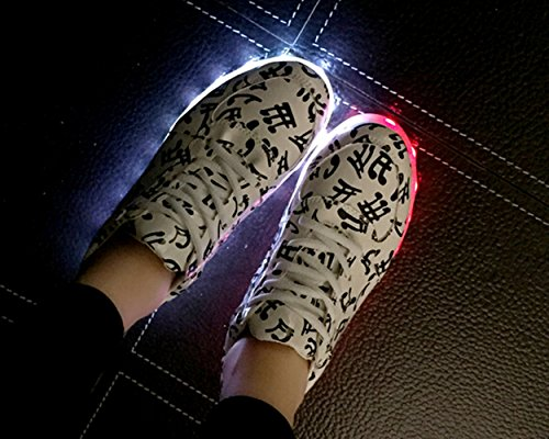 Men Glowing Women Summer Unisex Colorful Shoes Light USB Leisure LED Another amp; Colors Charging Sneakers Luminous Note Flat 7 Yd8gSx6