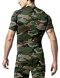 TSLA Men's Cool Dry Short Sleeve Compression