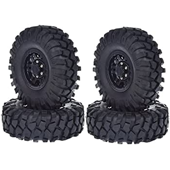 1//10 RC Crawler Tires Rims 1.9 Beadlock Wheels Rim and Tires 108mm for 1:10 Axial SCX10 TAMIYA CC01 D90 D110 4Pcs