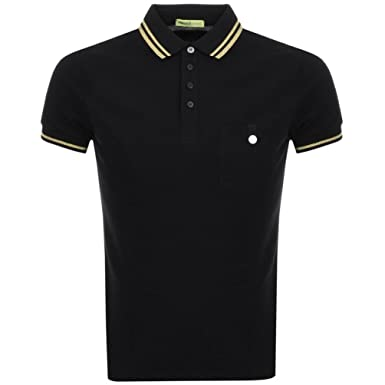 39d04d70 Mens Versace Jeans Pocket Polo T Shirt Black - Large: Amazon.co.uk: Clothing