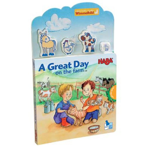 Haba Books A Great Day on the Farm Play Book with Puzzle ENGLISH VERSION - Haba Puzzle Book