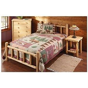 castlecreek cedar log bed king