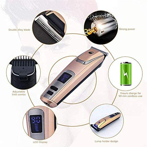 Hair Clippers USB Rechargeable Electric Hair Trimmer Cordless Styling Tools LED Display Men Professional Shaving Machine Styling Tool Haircut Kit kyman  R8bID