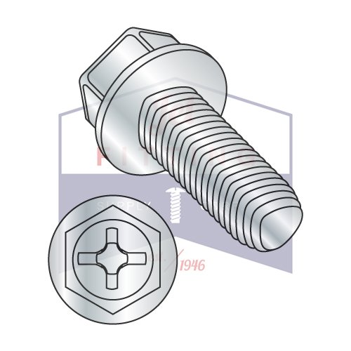 10-32X1/2 Taptite Style Thread Forming Screws | Phillips | Hex Washers Head | Steel | Zinc (QUANTITY: 8000) by Jet Fitting & Supply Corp