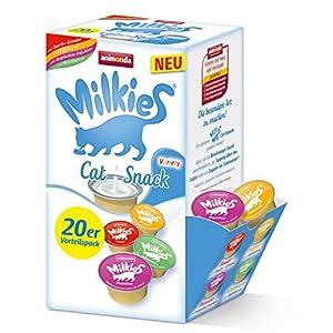animonda Milkies Power, leche para gatos en porciones, Variety, 4 x 20 cápsulas de 15 g