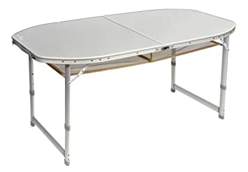 Bo Camp Camping Mesa 150 x 80 con funda maletín mesa plegable mesa ...