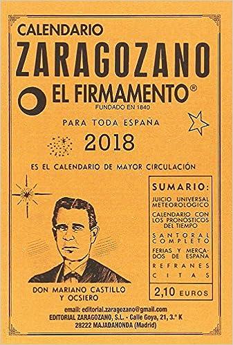 Calendario Zaragozano 2018: Amazon.es: Castillo y Ocsiero Mariano: Libros