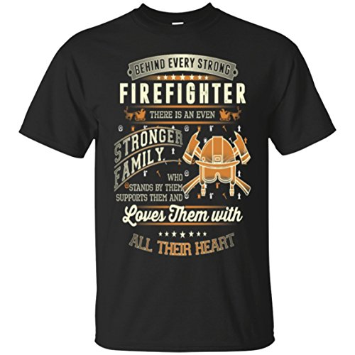 (Mila Tees Firefighter - Firefighter Family Awesome t-Shirt)