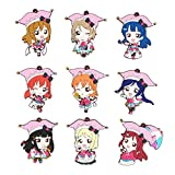Game, Fun, Love Live Lovelive Sunshine Aqours Circus Anime Yoshiko Chika Hanamaru Ruby You Dia Riko Kanan Mari Rubber Keychain, Toy, Play