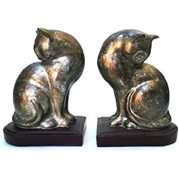 amazon   home decor accessories   cat bookends pair