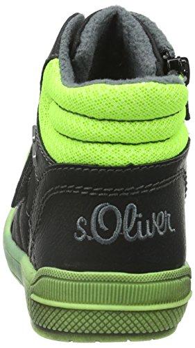 s.Oliver 35300, Zapatillas Altas Para Niños Negro (Black 1)