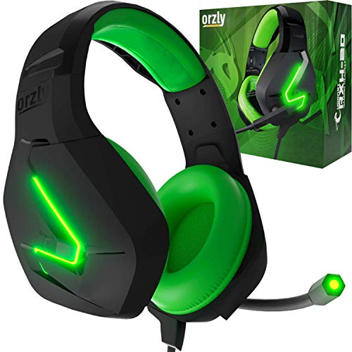 Gaming Headset für PC PS5, Playstation PS4, XBOX SERIES X | S, XBOX ONE,Nintendo Switch, Laptop & Google Stadia Stereo-Sound with mit Geräuschunterdrückung Microphone-Hornet RXH-20 Sagano Auflage