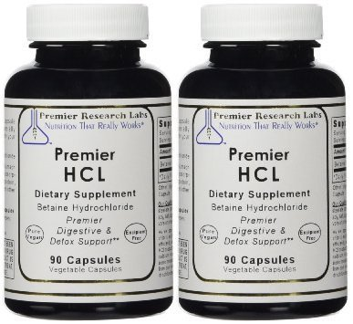 Premier HCL, (90 V-caps) by Premier Research Labs (90 Pack of 2)