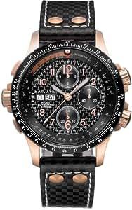 Hamilton - Reloj hombre, khaki aviation x-wind auto chrono h77696793, color negro