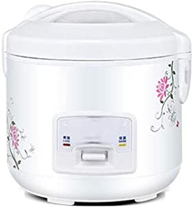 Household rice cooker 4-5 people mini small ordinary rice cooker student smart old-fashioned steamed rice micro-pressure precision cooking stylish shell (Color : White, Size : 2l)