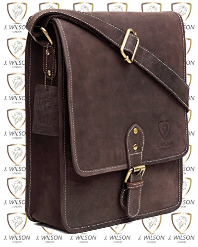 Messenger Flapover Everyday Distressed Brown Genuine 100 Leather Shoulder Brown Handmade iPad Distressed Vintage Hunter Mens Bag Crossover Leather Pure Real Work fZ1Fq4A