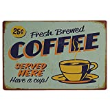 Iuhan  Metal Sign Tin Poster, Coffee Sign Vintage Metal Tin Sign Poster Plaque Bar Pub Club Cafe Home Plate Wall Decor Art 12'' X 8'' (D)