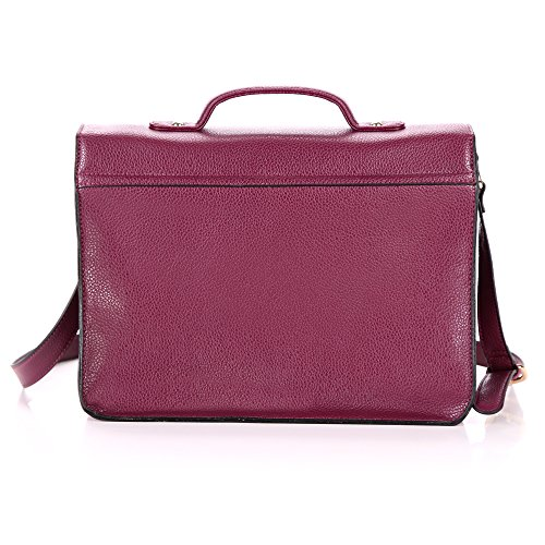 Yasmin Bags , Damen Satchel-Tasche Purple Heart Y12345