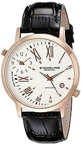 Stuhrling Original Men's 343.33452 Symphony Eclipse Polaris Quartz Rose Tone Watch
