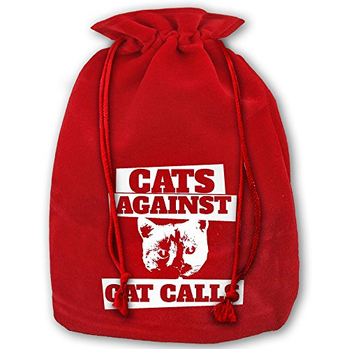 HERSON Cats-against-cat-calls Christmas Holiday Gift Bags 14