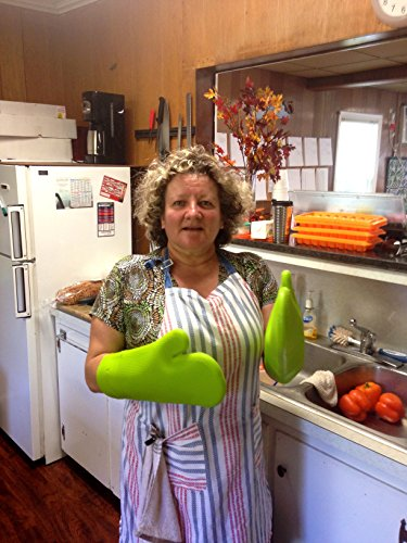 Show #1 Best Rated Heat Resistant Silicone Oven and Grill Mitts Pair - Best for Gardening, Cooking, Barbecuing and Household Activities - 100% Guaranteed. price
