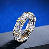 Sumanee Fashion Stainless Steel Rhinestone Gold Silver Plated Jewelry Ring Crystal (9)