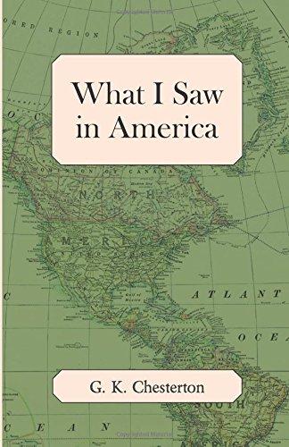 What I Saw in America PDF