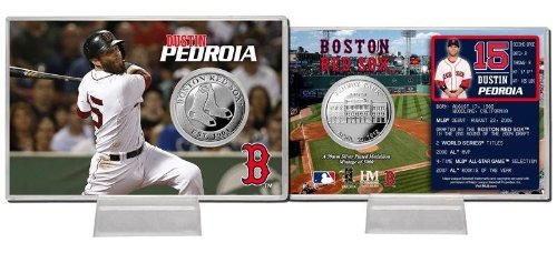 MLB Boston Red Sox Dustin Pedroia Silver Coin Card