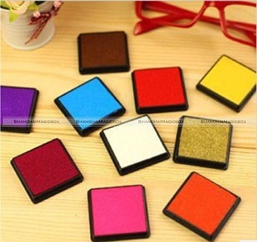 GohEunGyung shop Set of 15 Color Rubber Stamps Craft Ink Pad For Paper Scrapbook CRAFT035 (Gigi Microwave Wax Brazil)