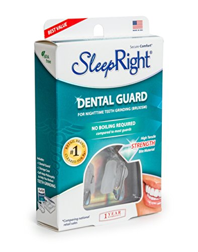 SleepRight Secure-Comfort Dental Guard – Mouth Guard To Prevent Teeth Grinding – SleepRight No Boil Dental Guard by SleepRight (Image #4)