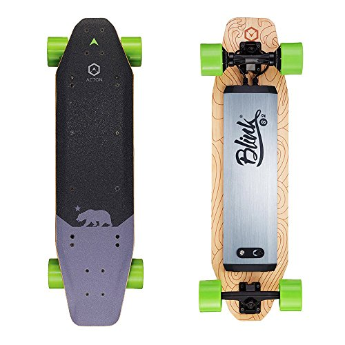 ACTON BLINK S2 | Summer Sale | Powerful Dual Hub Motors Electric Skateboard for Commute | 14 Mile Range | 18 MPH Top Speed | With LED Lights | Bluetooth Remote Control Included