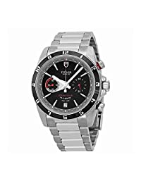 Tudor Grantour Flyback Black Dial Chronograph Mens Watch 20550N-BKSS