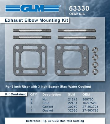 MERCRUISER EXHAUST ELBOW MOUNTING KIT | GLM Part Number: 53330