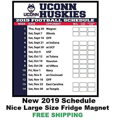2019 UCONN Huskies Football Schedule Fridge Magnet #132 ()