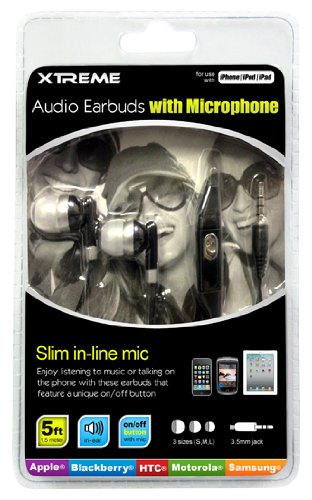 Xtreme Audio Earbuds Microphone Packaging product image