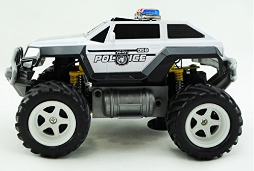 Amazon Com Prextex Remote Control Monster Police Truck Radio