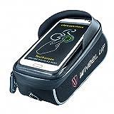 Ruijon Bicycle Bag,Waterproof Touch Screen Bicycle Handbar Bag for iPhoneX 8 7 6s 6 plus/Samsung Galaxy s7 s6 note 7 Cellphone Below 6.2 Inch with Sun Visor