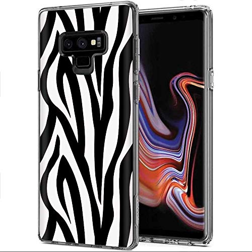 - [Mobiflare] Samsung Galaxy Note 9 [Clear] Ultraflex Thin Gel Phone Cover [Zebra Print Print]