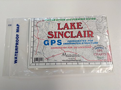 Atlantic Mapping MAP LAKE SINCLAIR; Lake Sinclair Waterproof Map Made by Atlantic Mapping