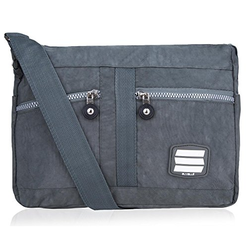 Lightweight Lunch Crossbody Grey Everyday Multi Shoulder 1951 Bag Pocket Travel Handbag Suvelle 1qxfdFq