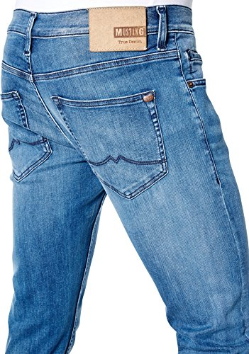 MUSTANG Herren Jeans Oregon Tapered, W36/L34, Blau (Super Stone Washed 053)