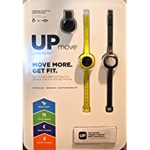 Jawbone up Move Activity Tracker, Onyx with Black Clip and Two Extra Straps, One Yellow and One Black