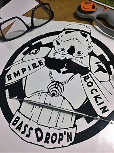 Empire Rockin Bass Drop'n   Bass Drop Storm Trooper DJ   Star War EDM Fan Art (Drop The Bass Decal)