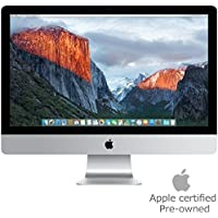 Apple iMac MK482LL/A 27-Inch Retina 5K Display Desktop (Intel Quad-Core i5 3.3GHz, 8GB RAM, 2TB Fusion Drive, Mac OS X), Silver (Certified Refurbished)