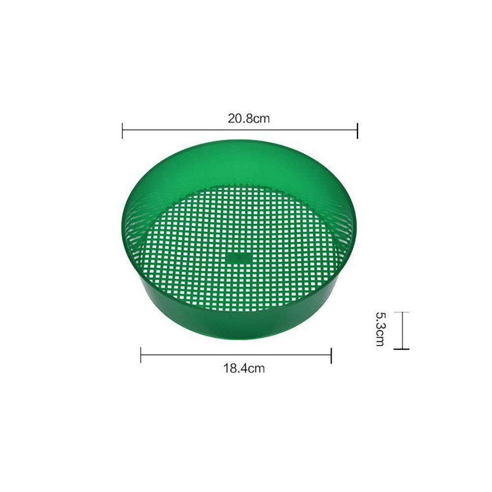 Jard/ín Tamiz Pl/ástico Verde para La Criba Composy Suelo Herramienta De Jardiner/ía De Malla De Piedra 21 5cm
