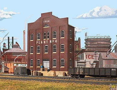 Ho Scale Cornerstone Background Building - Walthers Cornerstone Series Kit HO Scale Plant No. 4 Background Building by Walthers Cornerstone