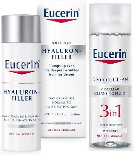 Eucerin - Estuche de regalo hyaluron filler piel normal/mixta eucerin: Amazon.es: Belleza